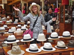 Panamahut-Manufaktur in Cuenca bei 3 Wochen Ecuador