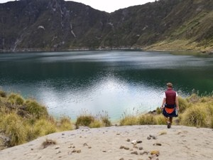 Kraterlagune bei Ecuador Highlights Reise
