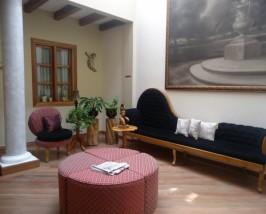 Aufenthaltsraum im Hotel in Quito