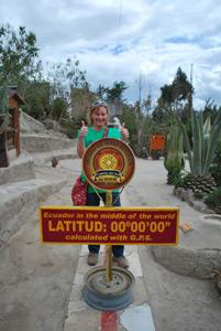 Am Äquator in der Nähe von Quito