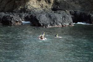 Schnorcheln vor einer Insel