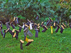 Gummistiefel nach Dschungelwanderung