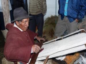 Weber in Ecuador bei Rundreise