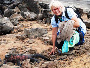 Reisende auf den Galapagosinseln