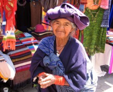 Bunte Handwerkskunst in Otavalo
