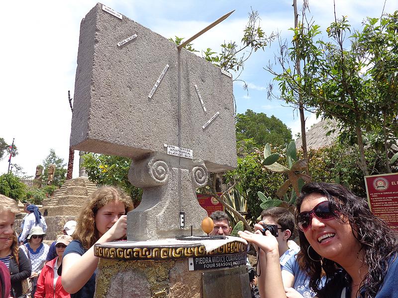 Machen Sie interessante Versuche am Äquator