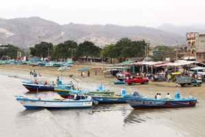 Der Hafen in Puerto Lopez