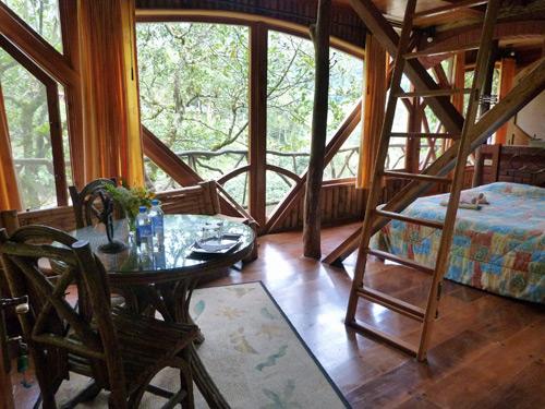 Nachhaltig gebautes Zimmer
