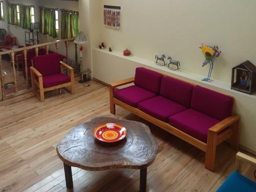 Aufenthaltsraum in einem Gästehaus in Guamote