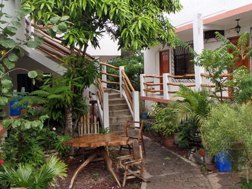 Grüne Atmosphäre in einer einfachen Galapagosunterkunft
