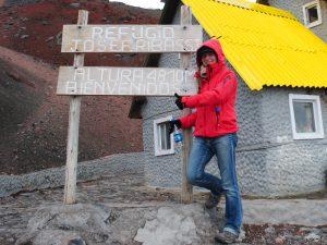 An der Schutzhütte des Cotopaxi