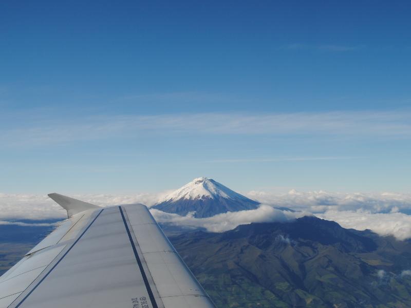 Flugzeug über den Anden