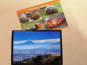 postkarte vulkane galapagos