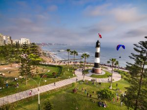 Ein Leuchtturm im Stadtteil Miraflores von Lima.