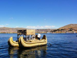 Das Ausflugsboot auf dem Titicacasee