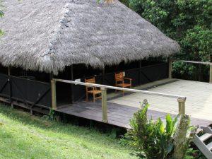 Hütte für gemeinsame Mahlzeiten
