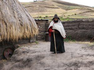Frau in den Anden