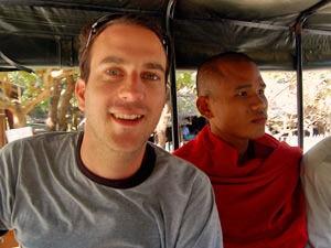Zuid Birma reis ontmoet een monnik