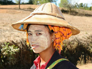 Myanmar Shan State lokale vrouw