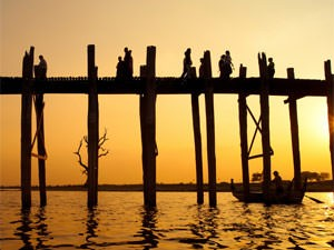 Myanmar rondreis: U bein-brug