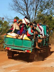 Myanmar vervoer - per truck