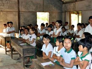 Myanmar schoolkinderen