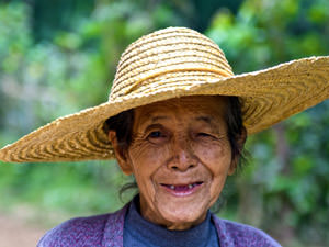 Myanmar reizen - lokale vrouw
