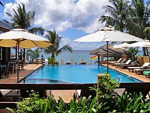 Thailand strand stijl zwembad