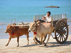 Myanmar reizen strand