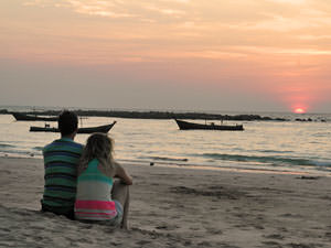 Ngapali strand zonsondergang