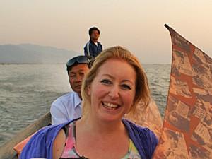 reis Myanmar - bootje varen op Inle Lake