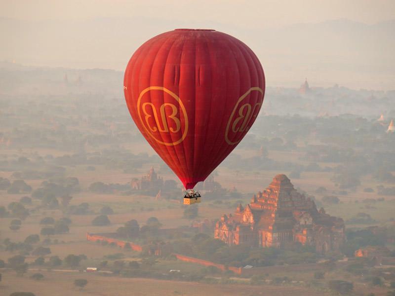 Vakantie Myanmar ballon