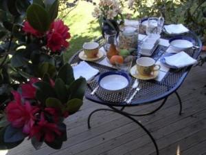 Das Frühstück in einem Bed&Breakfast
