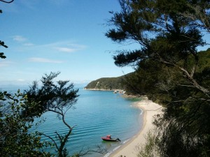 Neuseeland-abel-tasman-strand-boot