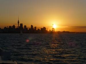 Sonnenuntergang in Auckland