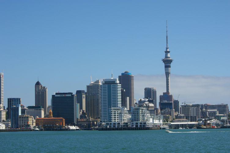 Neuseeland-auckland-skyline-von-vorne