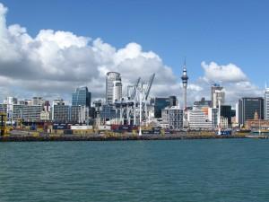 Neuseeland-auckland-skyline-wasseransicht