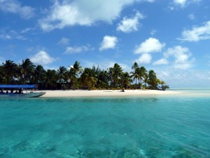 Strand und Meer von Aitutaki