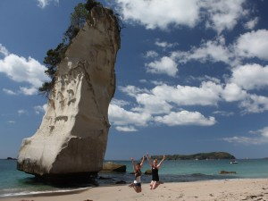 Am Strand der Cathedral Cove