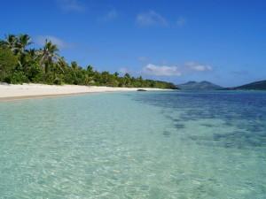 Strand op de Fiji-eilanden