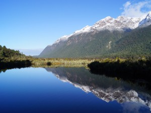 Neuseeland-mirror-lake-berg