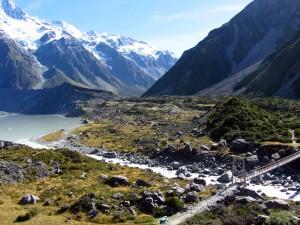 Wanderung durch das Hooker Valley