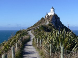 Südinsel Neuseelands: Otago Nugget Point mit Leuchtturm