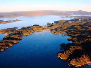 Stewart Island aus der Vogelperspektive
