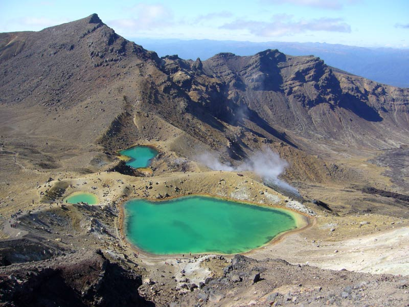 Kraterseen im Tongariro Nationalpark