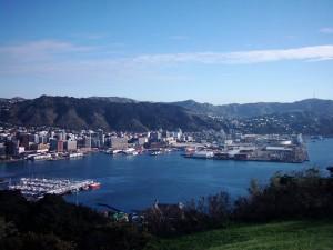 Hafen von Wellington Neuseeland