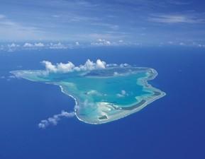 Aitutaki aus Vogelperspektive