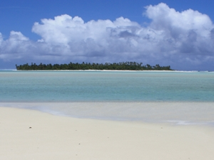 Cooks Atoll am Strand