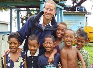 Schulkinder in Fidschi