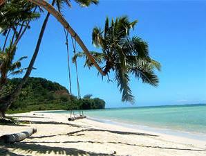 Palmenschaukel am Strand
